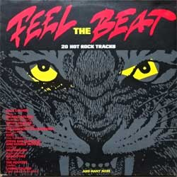винил LP АКВАРИУМ (БГ) (сборник FEEL THE BEAT: 20 HOT ROCK TRACKS) (2LP) (1989 Holland press, CBS 466032 1, ex/ex+/ex)