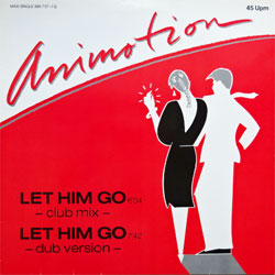 винил LP ANIMOTION ''Let Him Go'' (12'') (1984 German press, 880 737-1, ex/ex)