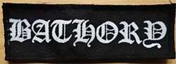 нашивка BATHORY logo b-w размер 4x11,5 см