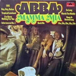 винил LP ABBA ''Mamma Mia'' (1975 German press, laminated, 2344 051, vg+/vg+)