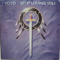 винил LP TOTO ''Stop Loving You'' (7''single) (1988 Holland press, promo-stamp, mint/ex+)