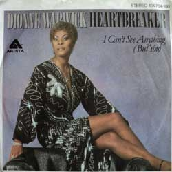 винил LP DIONNE WARWICK ''Heartbreaker - I Can't See Anything (But You)'' (7''single) (1982 German press, ex)