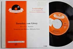 винил LP BARNABAS VON GECZY ''Puszta-Fox - Narzissus - Komm Mit Nach Madeira - Zahl Jeden Stern'' (4-track 7''single) (1962 German RARE press, F76 534, mint/ex-)