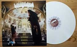 винил LP WHIPLASH ''Sit Stand Kneel Prey'' (1997 RI 2011 Italy RARE press, WHITE VINYL, insert, limited handnumbered edition 057/350, Night 111, mint/mint)