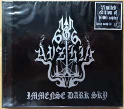 AVZHIA ''Immense Dark Sky'' (1995 RI 2008 Mexico RARE press, limited handnumbered edition 1000 copies, black jewel-case with print, GR 008, mint/mint, still sealed) (CD)