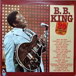 винил LP B.B. KING ''20 Greatest Hits'' (1983 Italy press, LOP 14023, ex/ex)