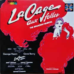 JERRY HERMAN ''La Cage Aux Folles (The Broadway Musical) - Original Cast Recording'' (1983 German 1st press, matrix Sonopress B-3114/68054-6 A, ex-/mint) (CD)