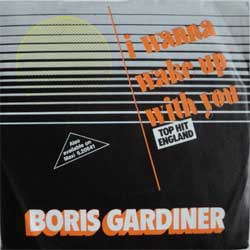 винил LP BORIS GARDINER ''I Wanna Wake Up With You'' (7''single) (1986 German press, ex/ex)