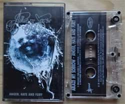 аудиокассета ABLAZE MY SORROW ''Anger, Hate And Fury'' (2003 Russian press, IROND MC 03-131, ex/near mint) (MC1395)
