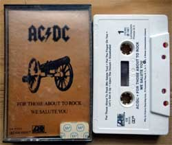 аудиокассета AC/DC ''For Those About To Rock We Salute You'' (1981 USA press, Dolby, CS 11111, mint/near mint) (MC4048)