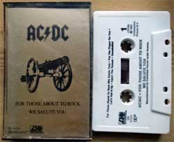 аудиокассета AC/DC ''For Those About To Rock We Salute You'' (1981 USA press, Dolby, CS 11111, mint/near mint) (MC4051)
