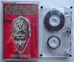 аудиокассета KREATOR ''Violent Revolution'' (2001 Russian press, 4001617725405, near mint/near mint) (MC1427)