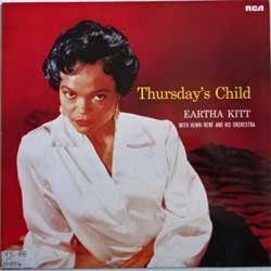 винил LP EARTHA KITT with HENRI RENE and His Orchestra ''Thursday's Child'' (1956 RI 1984 German press, NL89437, ex-/ex)