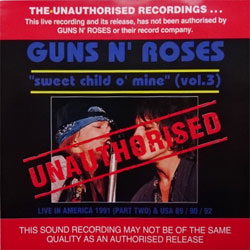 GUNS N' ROSES ''Sweet Child O' Mine (Vol.3)'' (1993 Australian RARE press, BAN-014-C, mint/mint) (CD)