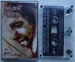аудиокассета MALEVOLENT CREEATION ''The Will To Kill'' (2003 Russian press, IROND MC 03-87, ex+/near mint) (MC1468)