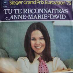 винил LP ANNE-MARIE DAVID ''Tu Te Reconnaitras - Au Bout Du Monde'' (7''single) (1973 German press, ex+/ex-)