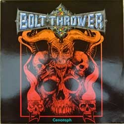 винил LP BOLT THROWER ''Cenotaph'' (1991 UK RARE press, MOSH 33T, vg+/ex) (D)
