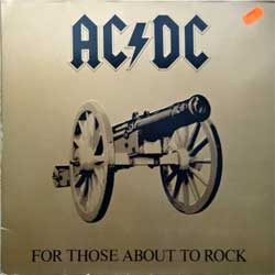 винил LP AC/DC ''For Those About To Rock (We Salute You)'' (1981 German press, gatefold, embossed, ATL K 50 851, near mint/ex-)