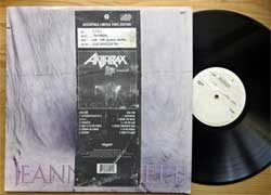 винил LP ANTHRAX ''Live - The Island Years'' (1994 UK press, limited numbered edition, copy # 0762, ILPS 8027/518 920-1, vg/diy) (D)