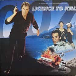 винил LP JAMES BOND 007: LICENCE TO KILL - OST (1989 German press, 256 436-1 U, near mint/ex-)