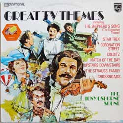 винил LP TONY OSBORNE SOUND ''Great TV Themes'' (1973 UK press, laminated, 6382 069, vg+/ex)
