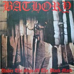винил LP BATHORY ''Under The Sign Of The Black Mark'' (1987 RI 1993 South Korea RARE press, insert, KPL-3055, near mint/near mint)