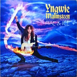 винил LP YNGWIE MALMSTEEN ''Fire & Ice'' (1992 South Korea RARE press, insert, EL-036, ex+/ex+)