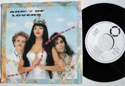 винил LP ARMY OF LOVERS ''Ride The Bullet'' (7''single) (1990 RARE German press, INT 112.041, ex/near mint)
