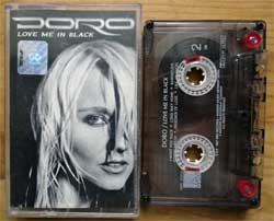 аудиокассета DORO ''Love Me In Black'' (1998 Russian press, 3984 22814-4, ex/ex+) (MC2125) (D)