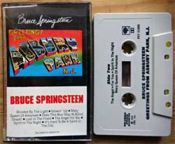аудиокассета BRUCE SPRINGSTEEN ''Greetings From Asbury park, N.J.'' (1973 RI USA press, Dolby, PCT 31903, barcode 0746431903402, mint/mint) (MC4329)