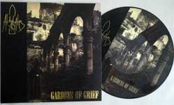 винил LP AT THE GATES ''Gardens Of Grief'' (picture-disc) (1991 RI 2015 Holland press, limited edition 300 copies, insert, golden foil stamping, HHR 2015-24, mint/mint, new)
