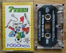 аудиокассета 7TEEN ''Pogoness'' (2000 Russian RARE press, 7Б 013-4, ex/mint) (MC2264) (D)
