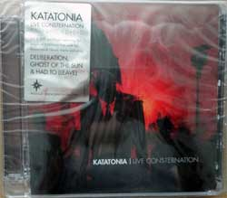 KATATONIA ''Live Consternation'' (2007 German press, super jewel box, original sticker, CDVILEF179X, new, sealed) (CD+DVD)