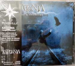 KATATONIA ''Tonight's Decision'' (1999 RI 2018 UK press, obi, 2 bonustracks, CDVILED76, new, sealed) (CD)