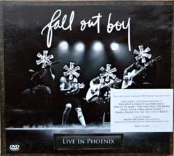 FALL OUT BOY ''Live In Phoenix'' (2008 Russian press, sticker, booklette, 0602517643369, vg/ex-) (digipak) (DVD)
