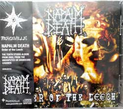 NAPALM DEATH ''Order Of The Leech'' (2002 RI 2018 UK press, obi, CDVILED151, new, sealed) (CD)