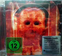 NAPALM DEATH ''Punishment In Capitals'' (2003 RI 2010 UK press, super jewel box, original sticker, CDVILED293X, new, sealed) (CD+DVD)