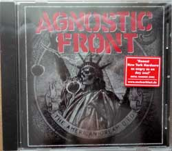 AGNOSTIC FRONT ''The American Dream Died'' (2015 German press, original sticker, NB 3223-2, new, sealed) (CD)
