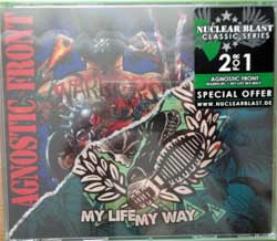 AGNOSTIC FRONT ''Warriors/My Life My Way'' (2xCD-box) (2007/2011 RI 2017 German press, original sticker, NB 3911-2, new, sealed) (CD)