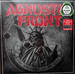 винил LP AGNOSTIC FRONT ''The American Dream Died'' (2015 German press, 2 original stickers, NB 3223-1, new, sealed)