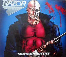 RAZOR ''Shotgun Justice'' (1990 RI 2015 USA press, O-card, silver foil stampoing, bonustracks, RR7272, new, sealed) (CD)