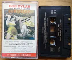 аудиокассета BOB DYLAN ''Knocked Out Loaded'' (1986 Canada press, Chromium Dioxide, Dolby, OCT-40439, mint/mint) (MC4514)