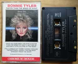 аудиокассета BONNIE TYLER ''Faster Than The Speed Of Light'' (1983 Canada press, Chromium Dioxide, Dolby, PCCT 90683, mint/mint) (MC4556)
