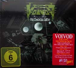 VOIVOD ''Killing Technology'' (3CD-box) (1987 RI 2017 EU press, deluxe edition, bonus material, 20 page booklette, original sticker, NOISE2CDDVD016, new, sealed) (digipak) (CD)