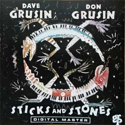 DAVE GRUSIN / DON GRUSIN ''Sticks And Stones'' (1988 Switzerland press, GRP-D-9562, matrix ICM H811032@1 9562 1126 076, mint/mint) (CD)