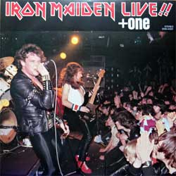 винил LP IRON MAIDEN ''Live!!+One'' (4-track 12'') (1980 Japan RARE pess, misprint, EMS-41001, near mint/ex) (D)