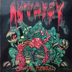винил LP AUTOPSY ''Mental Funeral'' (1991 RI 1993 Russian RARE press, laminated, FH 001/VILE 25, near mint/near mint) (D)
