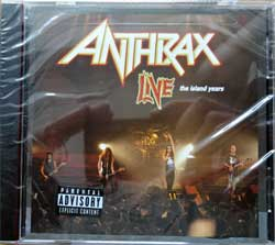 ANTHRAX ''Live The Island Years'' (1994 RI USA press, 314 518-920-2, parental advisory/explicit content sticker, black tray, new, sealed) (CD)