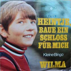 "винил LP WILMA ""Heintje, Baue Ein Schloss fur Mich - Kleine Bingo"" (7""single) (1968 German press, wobc, vg/vg+)"