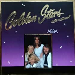 ABBA ''Golden Stars (International)'' (1986 German press, RARE CLUB edition, golden foil stamping, 65 015 0, matrix 65 015 0 0650 150 01 + 0 MADE IN W.GERMANY BY PDO, vg+/near mint) (CD)